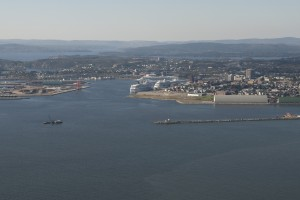 From the Bay into main channel and Port Oct 2012